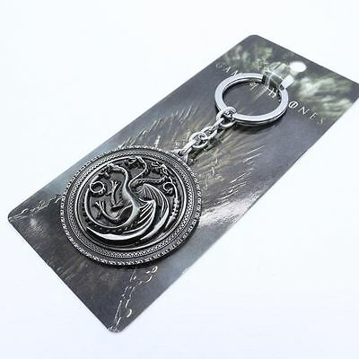 Llavero/Llavero - Game Of Thrones Targaryen Dynasty Insignia - Plata