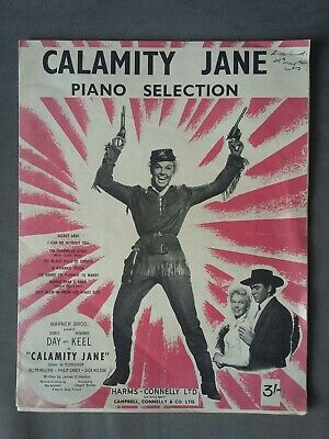 Vintage Calamity Jane Piano Selection Sheet Music 1953, Harms-Connelly Ltd