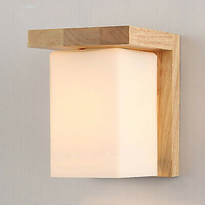 Cube Wall Light White Sconces Timber Indoor Wall Fixtures Bedside Lights