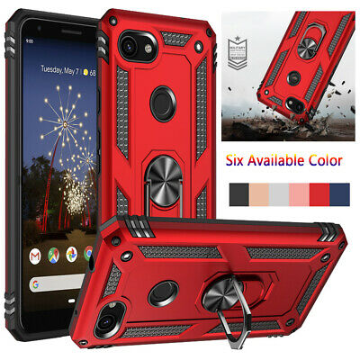 For Google Pixel 4/4 XL/3a/3a XL Shockproof Armor Stand Magnetic Case Cover