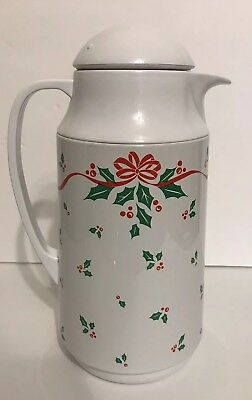 Corning Ware Thermique Winter Holly Berries Coffee Carafe Thermos