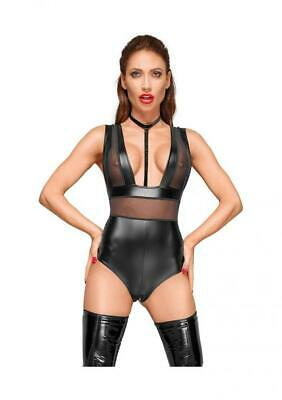 Noir Handmade Wetlook-body con collare in velluto – XL – nero, confezione da...