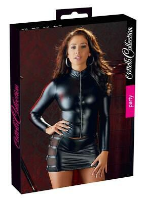 Cottelli Collection Party Top a maniche lunghe zip L