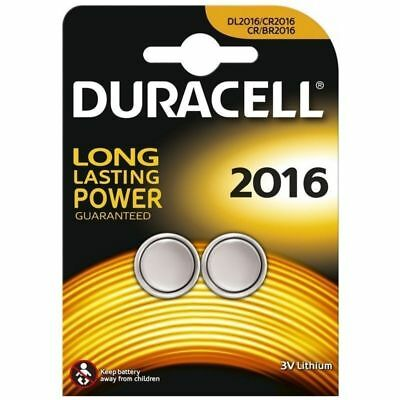 2 Duracell 2016 Battery Lithium Battery 3V Button Cell CR2016 DL2016 ECR2016