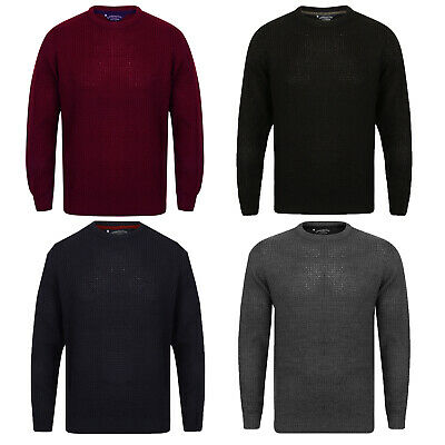 Kensington Eastside Mens Novi Luxury Knitted Jumper Crew Neck Pullover Top