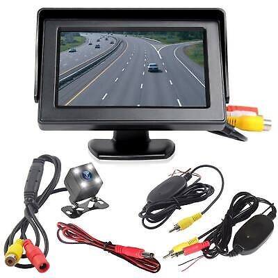 Wireless Car Reversing 170°Camera Kit Rear View 4.3? LCD Monitor HD Night Vision