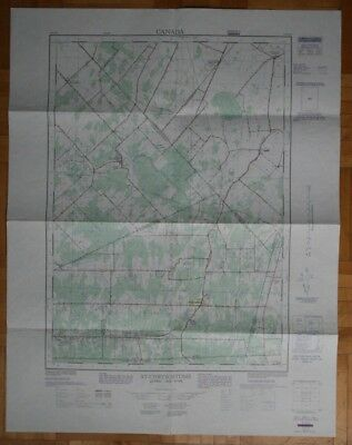 Topographic Map ST-CHRYSOSTOME QUEBEC 31-H/4 E 1971 Edition Canada ST1002000918
