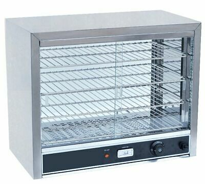 Electric Heated Countertop Display Cabinet Pie Food Warmer Glass Holding Case