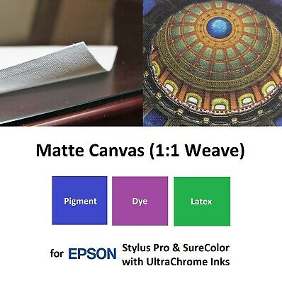 Matte Canvas Inkjet 365gsm for Epson Stylus Pro & SureColor UltraChrome Ink