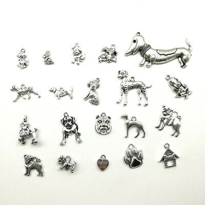Lot Dog Antique Silver Jewelry Finding Charms Pendants Carfts DIY 20 styles