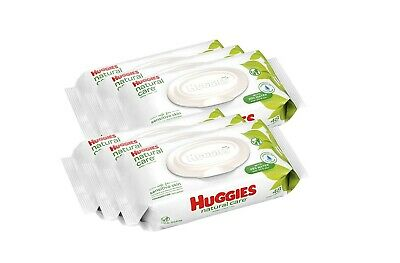 HUGGIES Natural Care Unscented Baby Wipes,Packs (288 Total Wipes)
