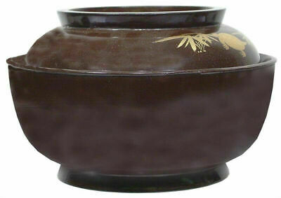 Antique Japanese Antique Lacquered Bowl And Cover, Meiji Period