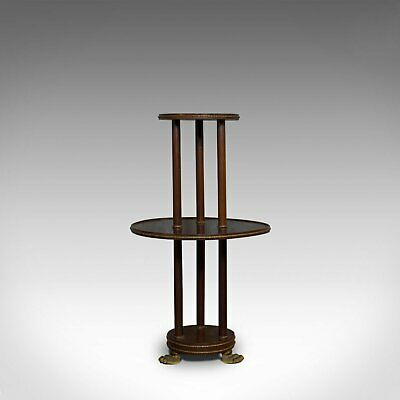 Antique Dumb Waiter, English, Victorian, Mahogany, Tiered, Empire, Circa 1880