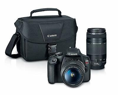 Canon EOS Rebel T7 24.1MP DSLR with EF 18-55mm + EF 75-300mm Premium Bundle