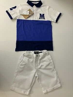 Mayoral NEW boys Outfit Set Top & Shorts Size 122 Cm Age 7 Years Bnwts