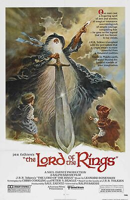 Lord of the Rings Animated Movie Poster Ralph Bakshi A3 Wall Home Cinema Decor
