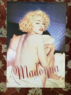 MADONNA  On Sire Records  rare original promotional poster from 1989