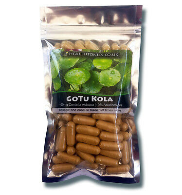 Gotu Kola Extract ( 12:1 equivalent to 4,800mg ), 30-90 Vegetarian Capsules
