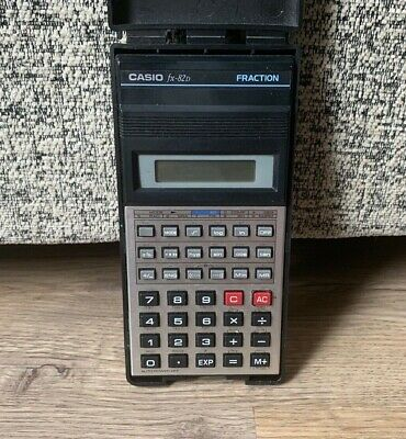 Vintage Casio FX-82b Fraction Calculator- Tested & Working- In Case