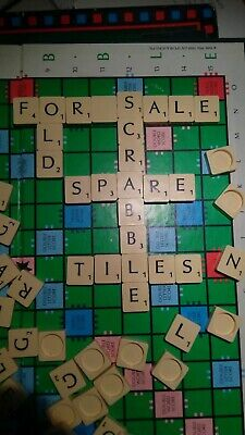 Scrabble Spare Single Tiles Letters Round Back Ivory & Black BUY 6 GET 12!