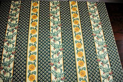 """Vent Du Sud Tablecloth French Provincial Sunflowers Olives Green Gold 56"""" Square"""