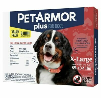 Petarmor Plus For Dogs Extra - Large 89-132 Lbs ( 6 Months Supply )