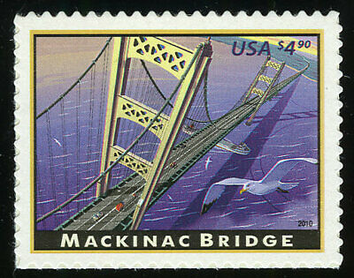 US #4438 $4.90 Mackinac Bridge Priority Mail VF NH MNH