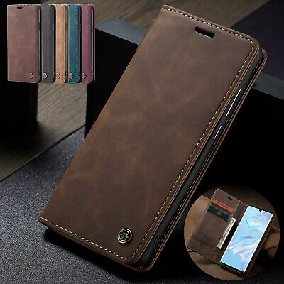 For Huawei P30 Pro Case Retro Leather Flip Card Slot Wallet Stand Magnetic Cover