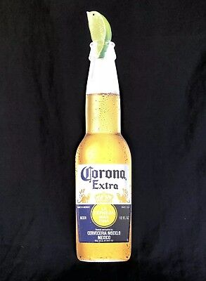 "Corona Extra Beer Bottle 22"" X 5"" Tin Metal Sign New"