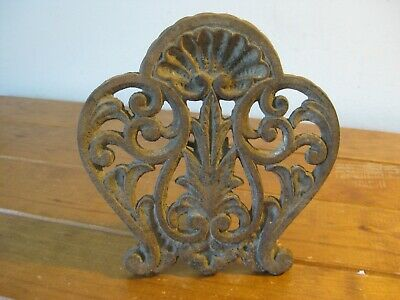 Antique Decorative Cast Iron - 19th Century Fireplace Grill Section. (Ornate)