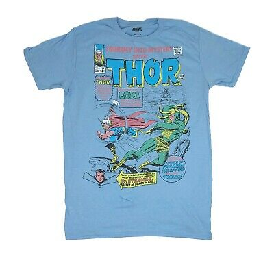 Marvel The Mighty Thor Avengers Mjollnir Loki Retro Comic Book Mens T shirt M-2X