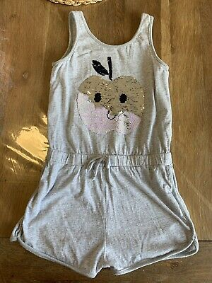 Seed Heritage Grey Apple Sequin Playsuit Size 9 Summer Shorts Top