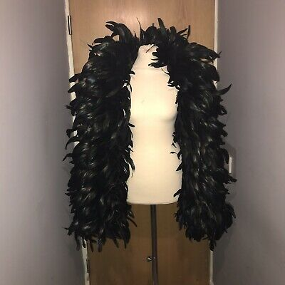 Xxl Huge Black Coque Feather Boa 2m