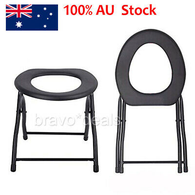 Folding Outdoor Travel Camping Seat Toilet Chair Festival Fishing Accessories AU