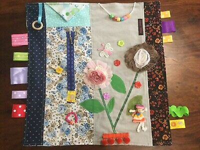 Ladies Dementia Fiddle Alzheimer's Fidget Calming Lap Quilt.