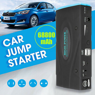 Portable Car Jump Starter 68800mAh Emergency Battery LED Charger Power Bank 12V