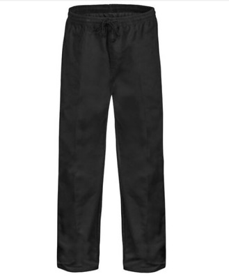 Drawstring Chefs Trousers / Pant Unisex, Black Colour