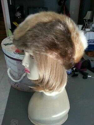 Vintage faux fur hat, three colours, Made in England