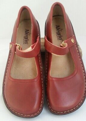 Alegria Leather Mary Jane Shoes Burgundy Red EU41 (10.5-11) AS NEW