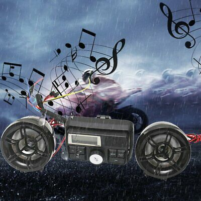 Universal Motorcycle FM Radio MP3 Anti-thief Stereo Speaker o System~@