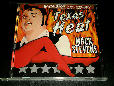 MACK STEVENS - TEXAS HEAT CD — Savage Rollin Rock Rockabilly — Mint Disc