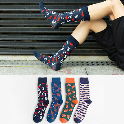 Mens Combed Cotton Socks Warm Funny Animal skeleton Casual Dress Socks For Gifts
