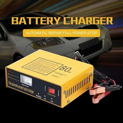 Full Automatic-protect Quick Charger 6V/12V 80AH 140W Car Battery Charger~@