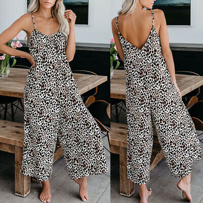 Womens Jumpsuit Romper Sleeveless Pants Playsuit Clubwear Trousers Dress Outfits