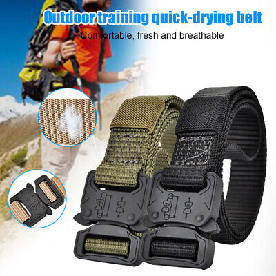 Tactical Belt Quick-dry Non-adjustable Military Belt Zinc Alloy Buckle Camp Hunt