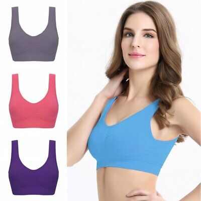 Lady Seamless Sports Yoga Running Bra Crop Vest Stretch Bras Shaper Padded Tops
