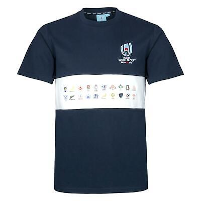 Rugby World Cup 2019 Men's 20 Nations Chestband Map T-Shirt | Navy