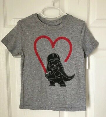 Star Wars Toddler Boys Darth Vader Heart Saber Short Sleeve T-Shirt Size 4T