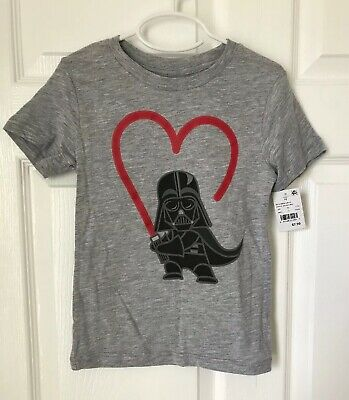 Star Wars Toddler Boys Darth Vader Heart Saber Short Sleeve T-Shirt Size 5T