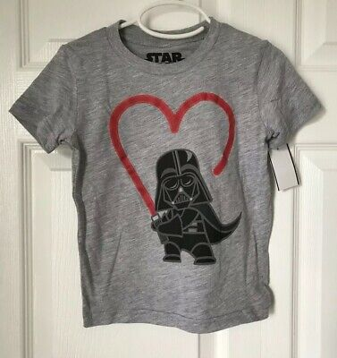 Star Wars Toddler Boys Darth Vader Heart Saber Short Sleeve T-Shirt Size 3T